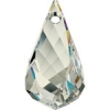 Swarovski Drop 6020 Helix 18mm Silvershade Crystal